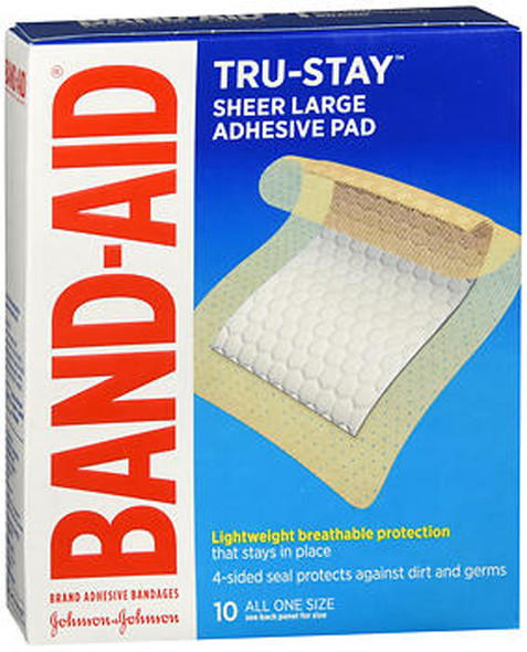 "Band-Aid Adhesive Pads All One Size - 2 7/8"", 10 ct"