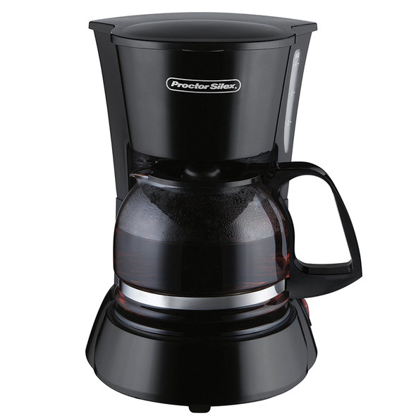Proctor Silex Pause & Serve 4 Cup Coffee Maker, Black