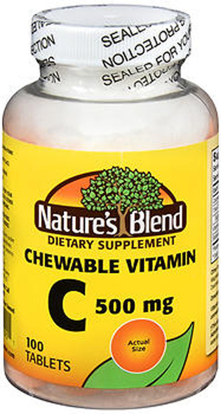 Nature's Blend Vitamin C 500 mg Chewable Tablets - 100 ct