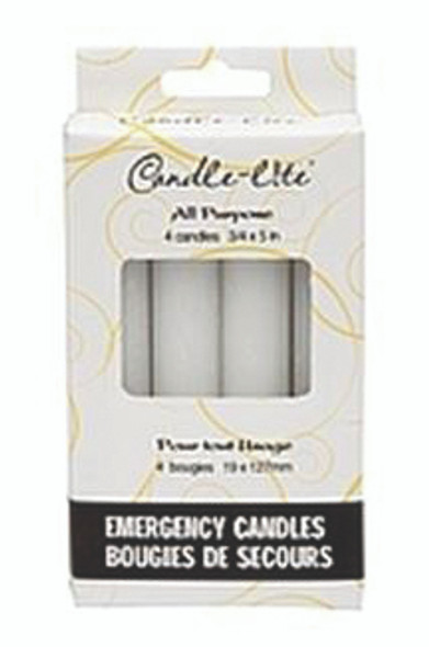 "Candle Lite 5"" Emergency Candle, White - 4 ct"