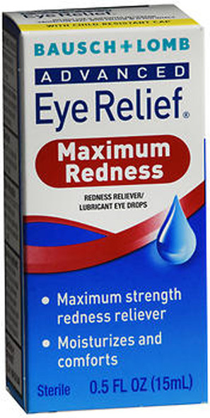 Bausch + Lomb Advanced Eye Relief Drops Maximum Redness - 0.5 oz