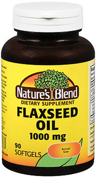 Nature's Blend Flaxseed Oil 1000 mg Softgels - 90 ct