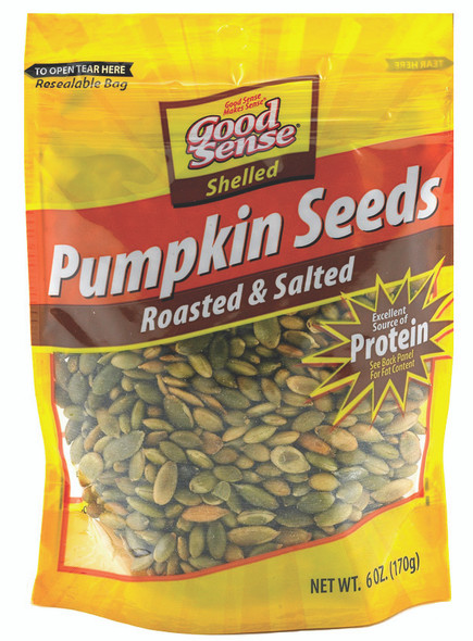 Pumpkin Seeds Roasted & Salted Shelled (Pepitas) 6 oz