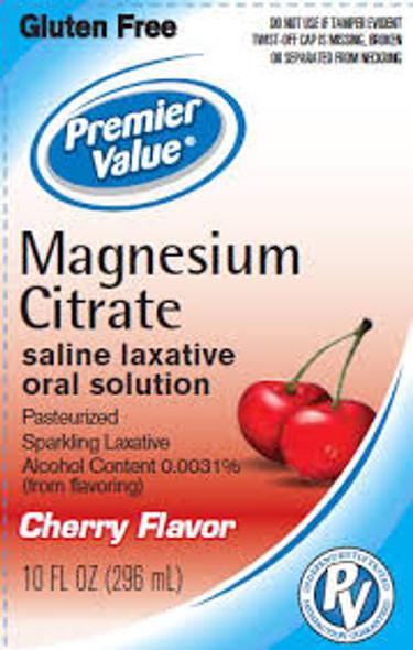 Premier Value Magnesium Citrate Cherry, 10oz