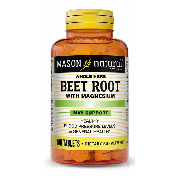 Mason Natural Whole Herb Beet Root with Magnesium Tablets - 100 ct