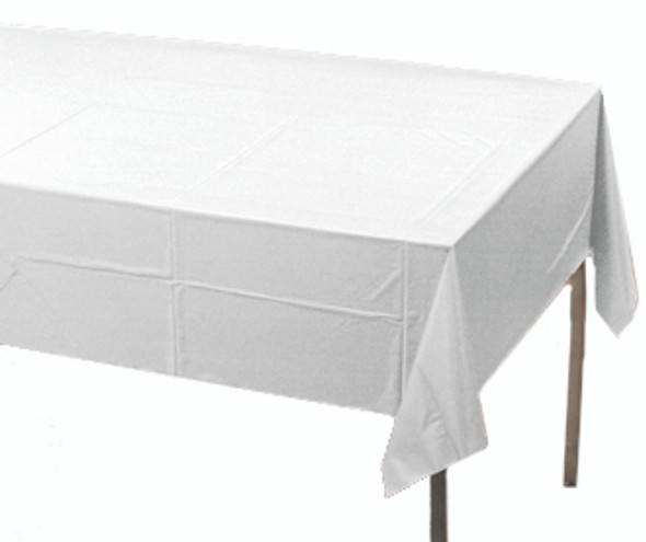 Solid Plastic Tablecover 100' Roll White