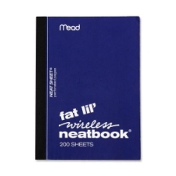 "Fat Lil Wireless Neatbook, 200 Ruled Sheets - 4"" x 5.5"""
