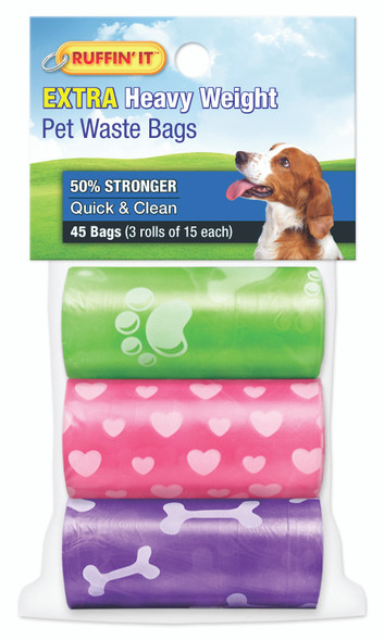 Printed Wastbags, 3pk Asst