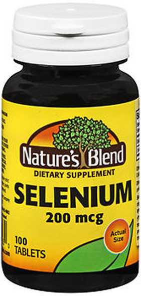 Nature's Blend Selenium 200 mcg Tablets - 100 ct