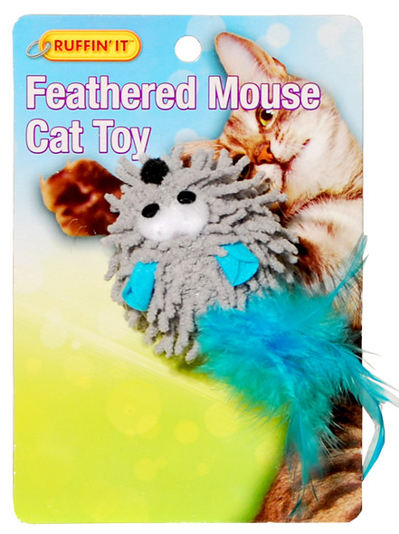 Feathered Mouse Cat Toy