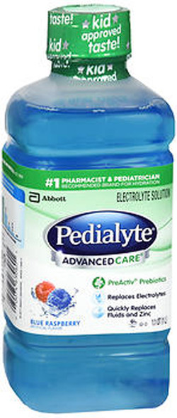 Pedialyte Advanced Care Electrolyte Solution Blue Raspberry - 33.8 oz