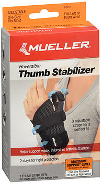 Mueller Reversible Thumb Stabilizer Maximum Support One Size Fits Most 62712