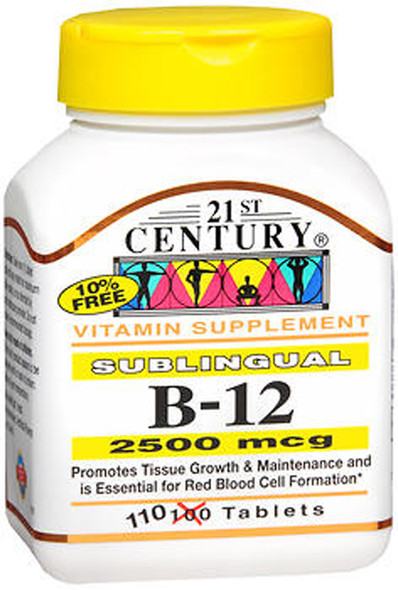 21st Century B-12 2500 mcg Tablets Sublingual - 110 ct