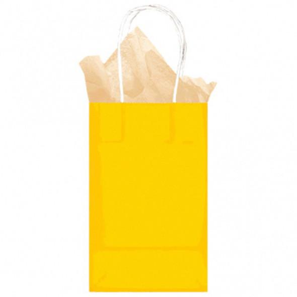 Kraft Bag-Small-Yellow Sunshine - 1 ct