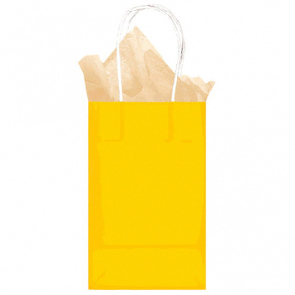 Kraft Bag-Small-Yellow Sunshine - 1 ct