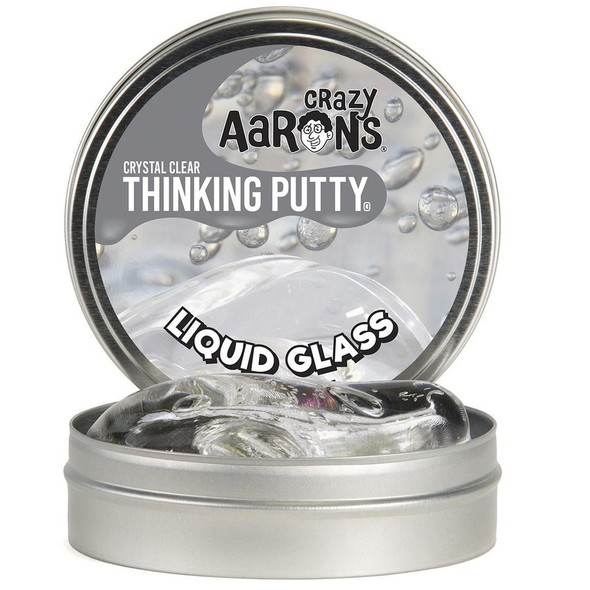 Crazy Aarons Thinking Putty Liquid Glass Clear Tin - 3.2 oz