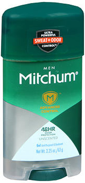 Mitchum Men Advanced Control Anti-Perspirant & Deodorant Gel Unscented - 2.25 oz