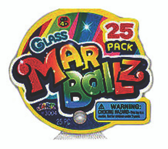 Glass Marble, 25pk