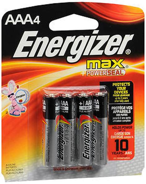 Energizer MAX Alkaline Batteries AAA - 4 ct