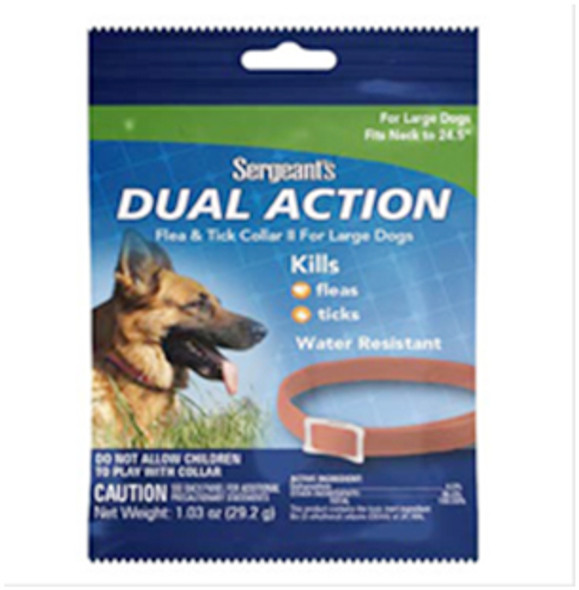 Sergeant's Dual Action Flea & Tick Collar for Large Dogs - 1 ct