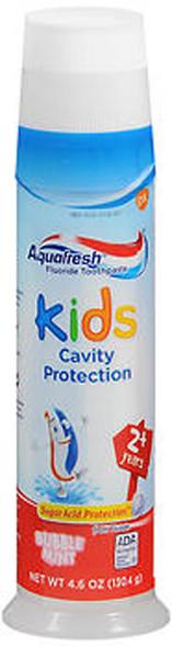 Aquafresh Kids Fluoride Toothpaste Bubble Mint Pump - 4.6 oz