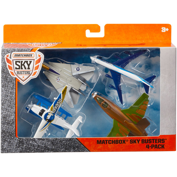 Matchbox Sky Busters Planes 4 Pack (Styles May Vary)