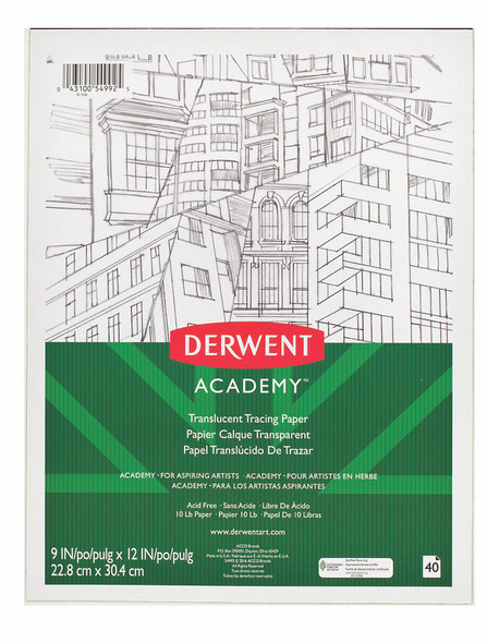 """Derwent Translucent Tracing Paper 9""""X12"""" - 40 Sheets"""