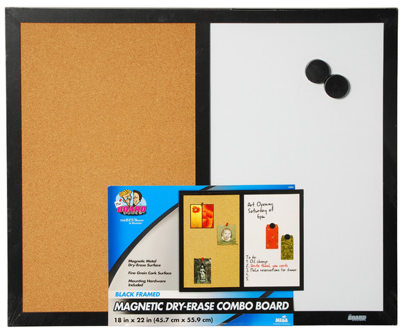 "The Board Dudes Dry Erase/Cork Board Combo 18"" x 22"""