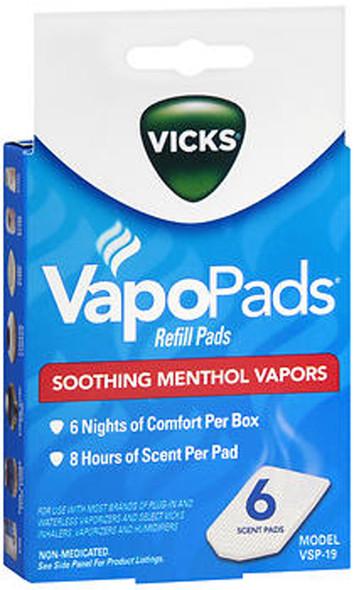 Vicks VapoPads Soothing Menthol Vapors Refill Pads (VSP-19) - 6 ct