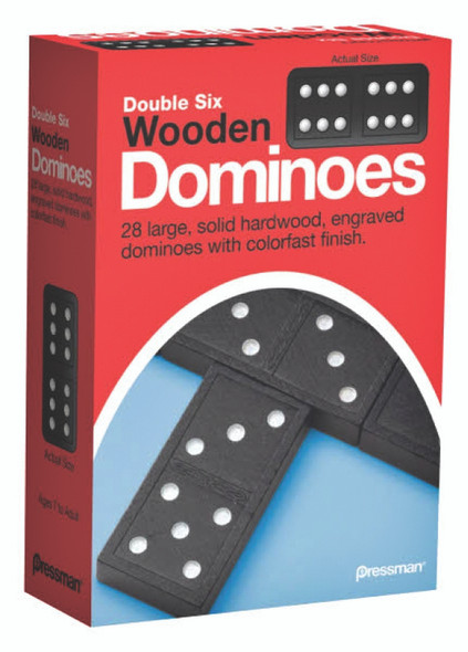 Pressman Double Six Wooden Dominoes