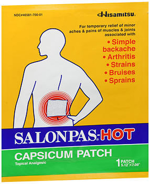 Salonpas-Hot Capsicum Patch - 3 ct