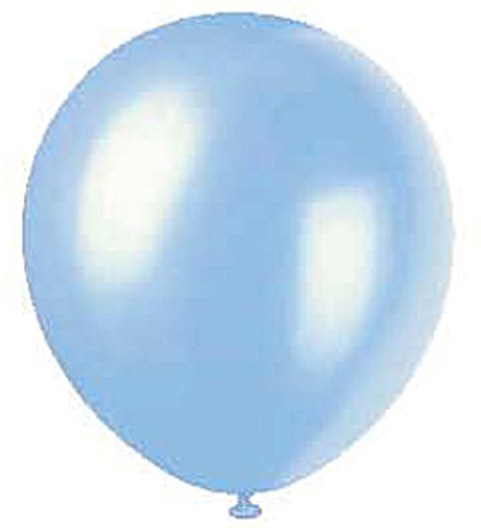 """Pearlized Powder Blue Balloons, 12"""", 8ct"""