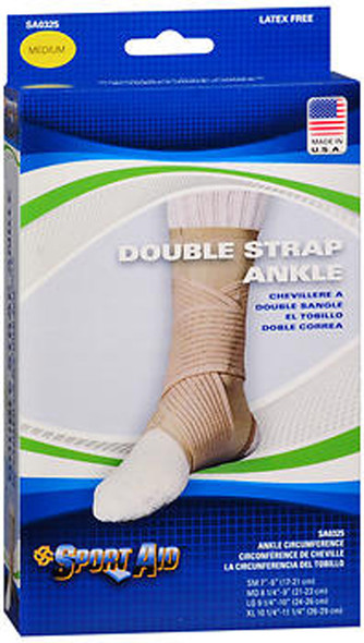 Scott Sport Aid Double Strap Ankle Support SA0325 Beige Medium