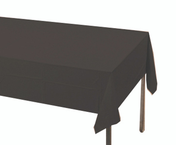 Solid Plastic Tablecover 100' Roll, Black
