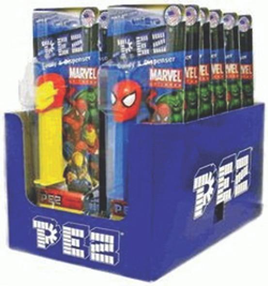 Pez Marvel Superheroes Dispensers 12 Count