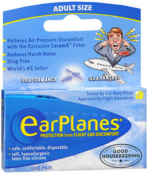 EarPlanes Ear Plugs - 1 Pair