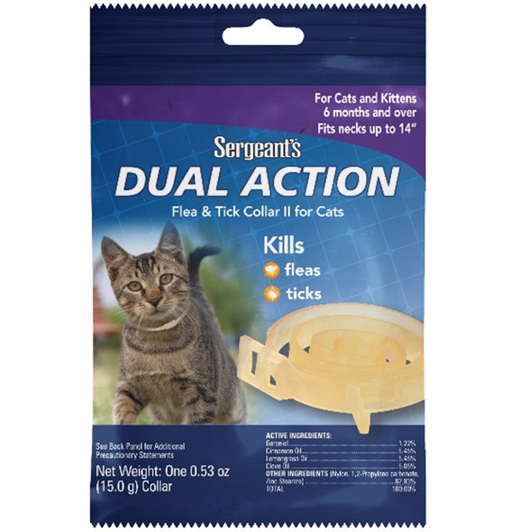 Sergents Dual Action Flea & Tick Collar for Cats