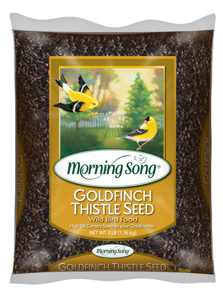 Morning Song Goldfinch Thistle Seed, Wild Bird Food - 3 Pounds