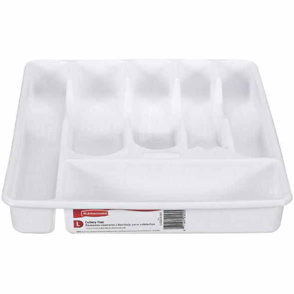 Rubbermaid Cutlery Tray, Large, White