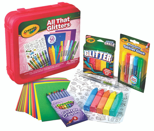 Crayola All That Glitters Art Set with Case