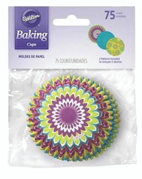Wilton Bright Starburst Baking Cups - 75 ct