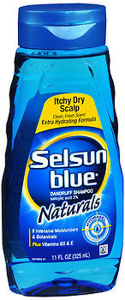 Selsun Blue Naturals Dandruff Shampoo Itchy Dry Scalp - 11 oz