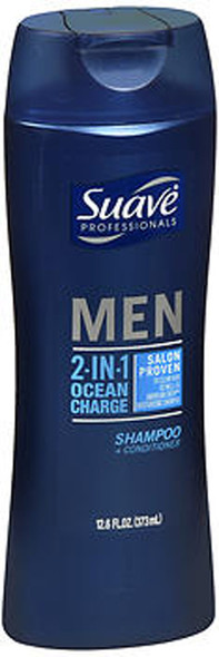 Suave Professionals Men 2-in-1 Shampoo + Conditioner Ocean Charge - 12.6 oz