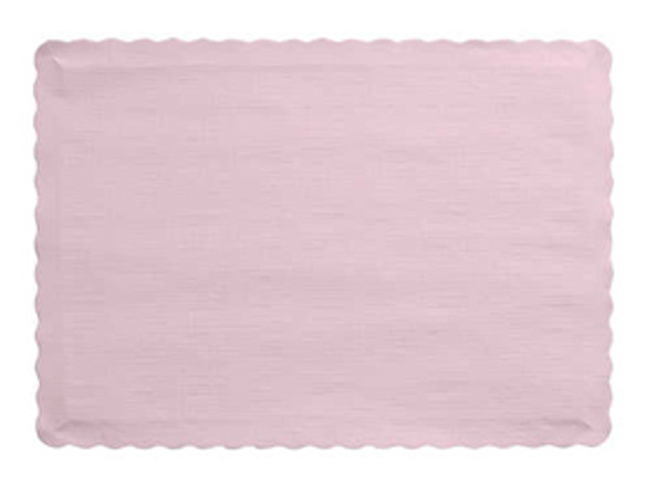 Creative Converting Solid Color Paper Placemat, Pink - 50 ct