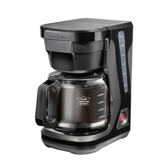 Proctor Silex Compact Coffee Maker-Black, 12cup