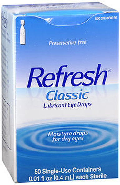 Refresh Classic Lubricant Eye Drops Single-Use Containers, 50 - 0.4 ml