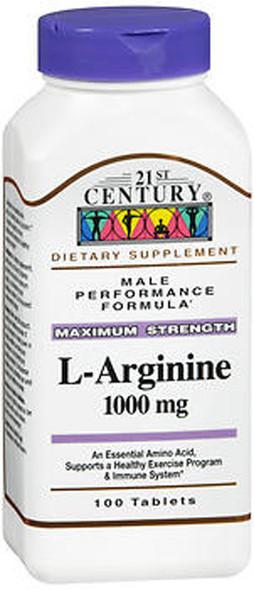 21st Century L-Arginine 1000 mg Tablets - 100 ct