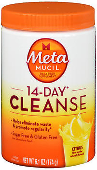 Meta Mucil 14-Day Cleanse Fiber Powder Citrus - 6.1 oz