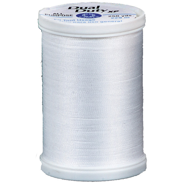 Dual Duty Xp General Purpose Thread, White, 250 Yds. - 3 Pkgs