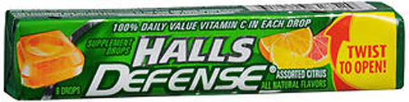 Halls Defense Vitamin C Drops Assorted Citrus - 20 packs of 9